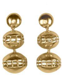 Natori - Josie Gold Brass Double Cage Earrings - Lyst