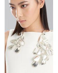 Natori - Hammered Metal Necklace - Lyst
