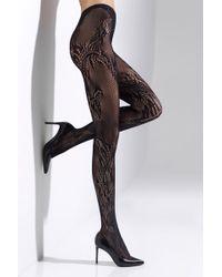 Natori - Feathers Lace Net Tights - Lyst