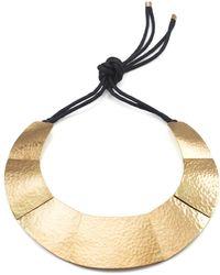 Natori | Josie Geometric Brass Necklace | Lyst