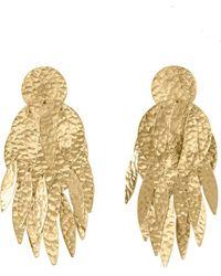 Natori | Josie Gold Brass Dangling Earrings | Lyst