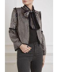 Needle & Thread - Gloss Sequin Bow Jacket - Lyst