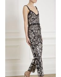 Needle & Thread - Floral Gloss Jumpsuit - Lyst