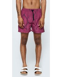 Insted We Smile - Persian Track Swim Short In Burgundy - Lyst