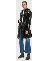 Rains - Curve Rain Jacket In Glossy Black - Lyst