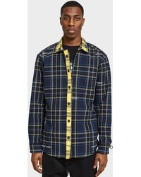Off-White c/o Virgil Abloh - Blue Deconstructed Check Shirt - Lyst