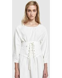 Which We Want - Genevieve Corset In White - Lyst