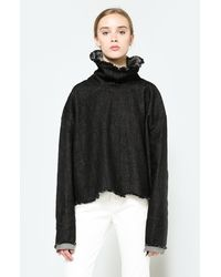 Need Supply Co. - The Turtleneck In Black Denim - Lyst