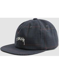 Stussy - Small Check Strapback Cap - Lyst