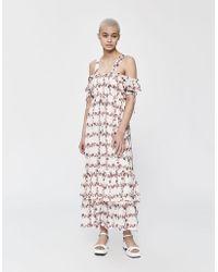 c85b6760383 Farrow Edith Sheer Floral Maxi Dress in Black - Lyst