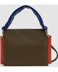 fcb3a436da1b Marni Opaca Nappa Leather Bi Colored Handbag - Lyst