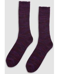 Anonymous Ism - 5 Color Mix Crew Sock - Lyst
