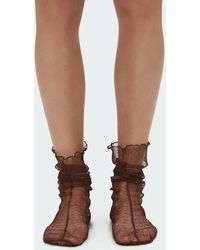 Rachel Comey - Hynde Tulle Socks In Brown - Lyst