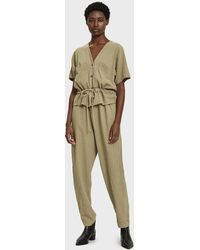 Black Crane - Short Sleeve Jumpsuit - Lyst