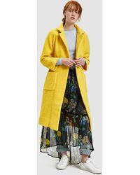 Ganni - Fenn Long Wrap Coat In Lemon - Lyst