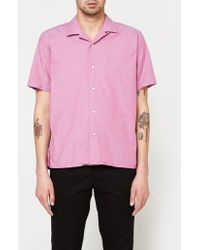 Gitman Brothers Vintage - Iridescent Chambray Ss Camp Shirt - Lyst