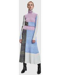 3.1 Phillip Lim - Contrast Panels Knitted Skirt - Lyst