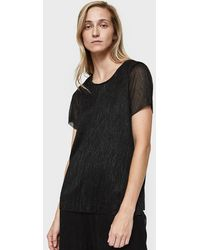 Just Female - Shimmer Quint Tee In Black - Lyst