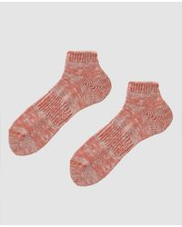 Anonymous Ism - Slub Ankle Sock In Pink - Lyst