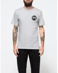 Soulland - Ribbon T-shirt In Grey Melange - Lyst
