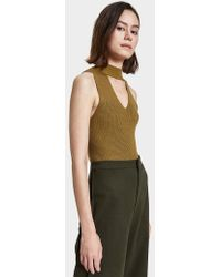 Which We Want - Kurt Cut-out Tank In Moss Green - Lyst