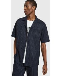 Séfr Séfr - Sune Shirt In Pinstripe - Lyst