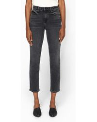 T By Alexander Wang | High Rise Jeans In Grey Fade | Lyst