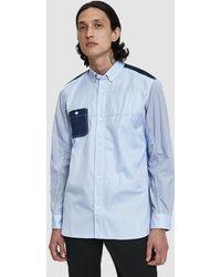 Junya Watanabe - Herringbone Stripe Button Down Shirt - Lyst
