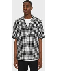Soulland - Brandt Checked Bowling Shirt - Lyst
