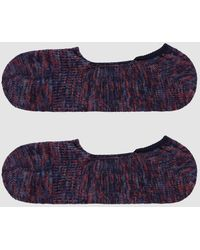 Anonymous Ism - Mix Intact Loafer Sock In Navy/red - Lyst