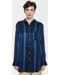 Beautiful Bottoms - Sleep Shirt In Midnight Bold Stripe - Lyst