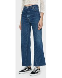 RE/DONE - Levi's Ultra High Rise Flare Jean - Lyst