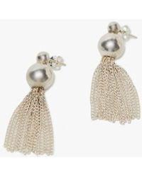 Young Frankk - Silver Tassel Earrings - Lyst