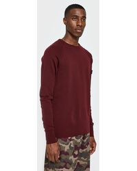 Halo - Crew Neck Thermal Sns In Burgundy - Lyst