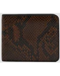 Dries Van Noten - Bifold Snake-effect Wallet - Lyst