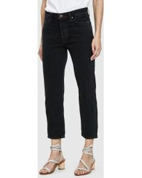Goldsign - Low Slung Cropped Jean - Lyst