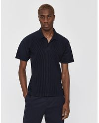 Homme Plissé Issey Miyake - S/s Basics Collared Shirt - Lyst