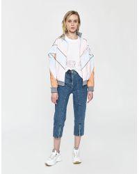 AALTO - Cropped Zipper Jean - Lyst