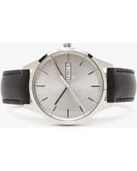 Uniform Wares - C40 Brushed Steel Nappa Leather Strap Watch - Lyst