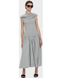 AALTO - Jersey Dress With Netting - Lyst