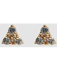 Wwake - Tri-sapphire Stud Earrings - Lyst