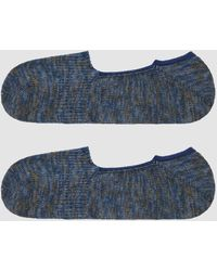 Anonymous Ism - Mix Intact Loafer Sock In Indigo/khaki - Lyst