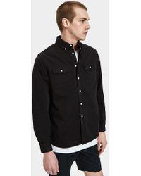 Saturdays NYC - Angus Broken Twill Shirt In Black - Lyst