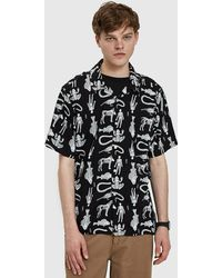 Obey - Dante Woven Shirt In Black Multi - Lyst