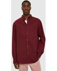 Insight - Denim Ls Shirt In Burgundy - Lyst