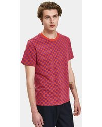 Vans - Vans X Lqqk Ss Crew In Bright Red - Lyst