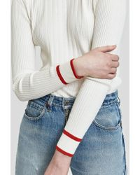 Just Female - Ebba Knit In Bright White - Lyst