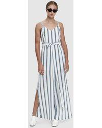 Farrow - Harrison Striped Tie Waist Jumpsuit - Lyst