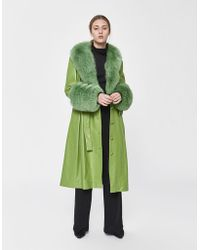 Saks Potts - Foxy Leather Coat - Lyst