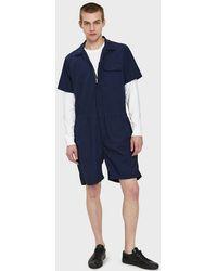 Engineered Garments - Combi Suit In Dark Navy - Lyst